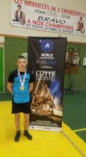Theo Mazoyer-Veautier champion de France cadets (2)55kg libre