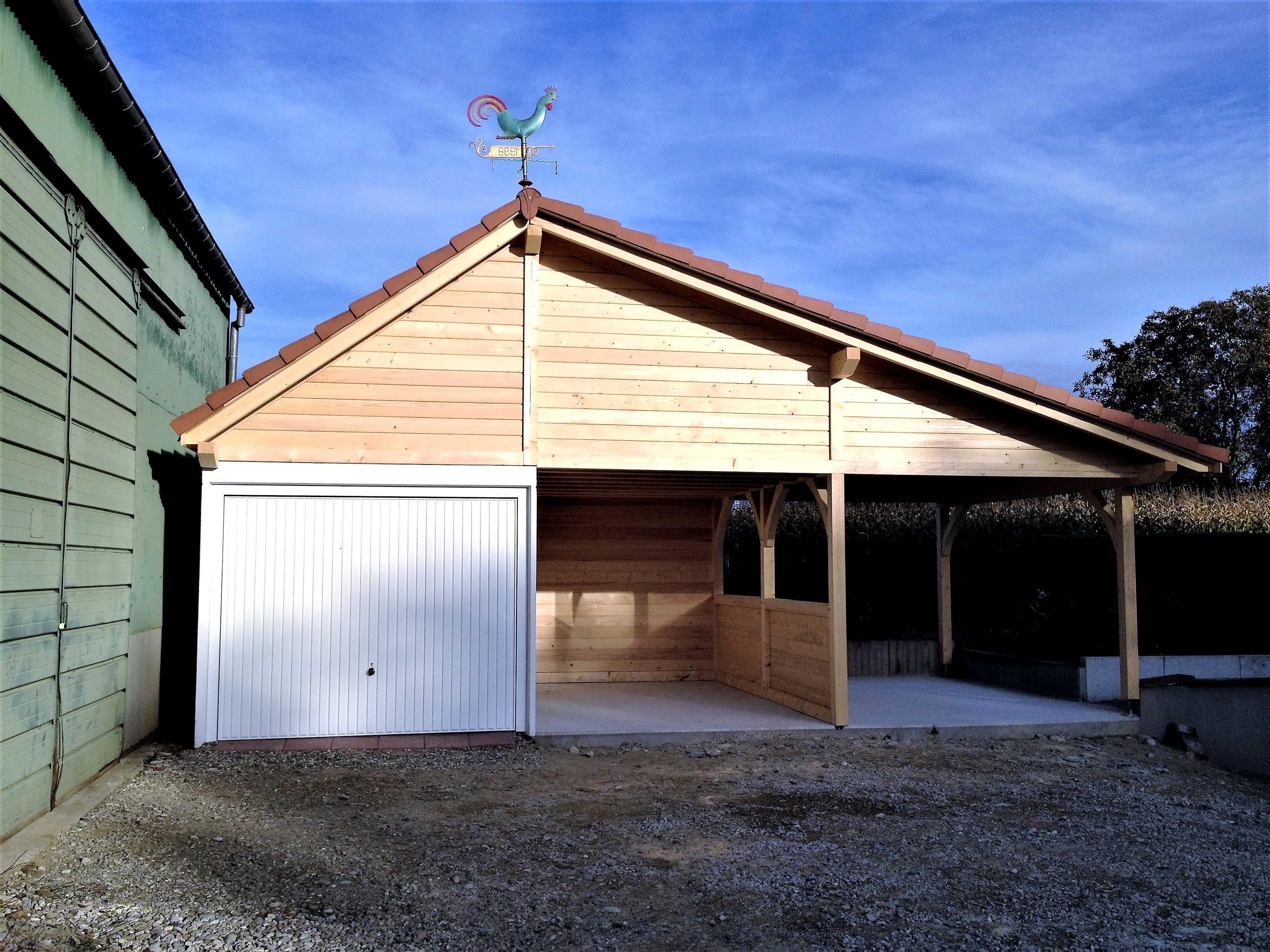 Fabricant de garages en bois et de carport en Alsace  Maisons bois LUTZ