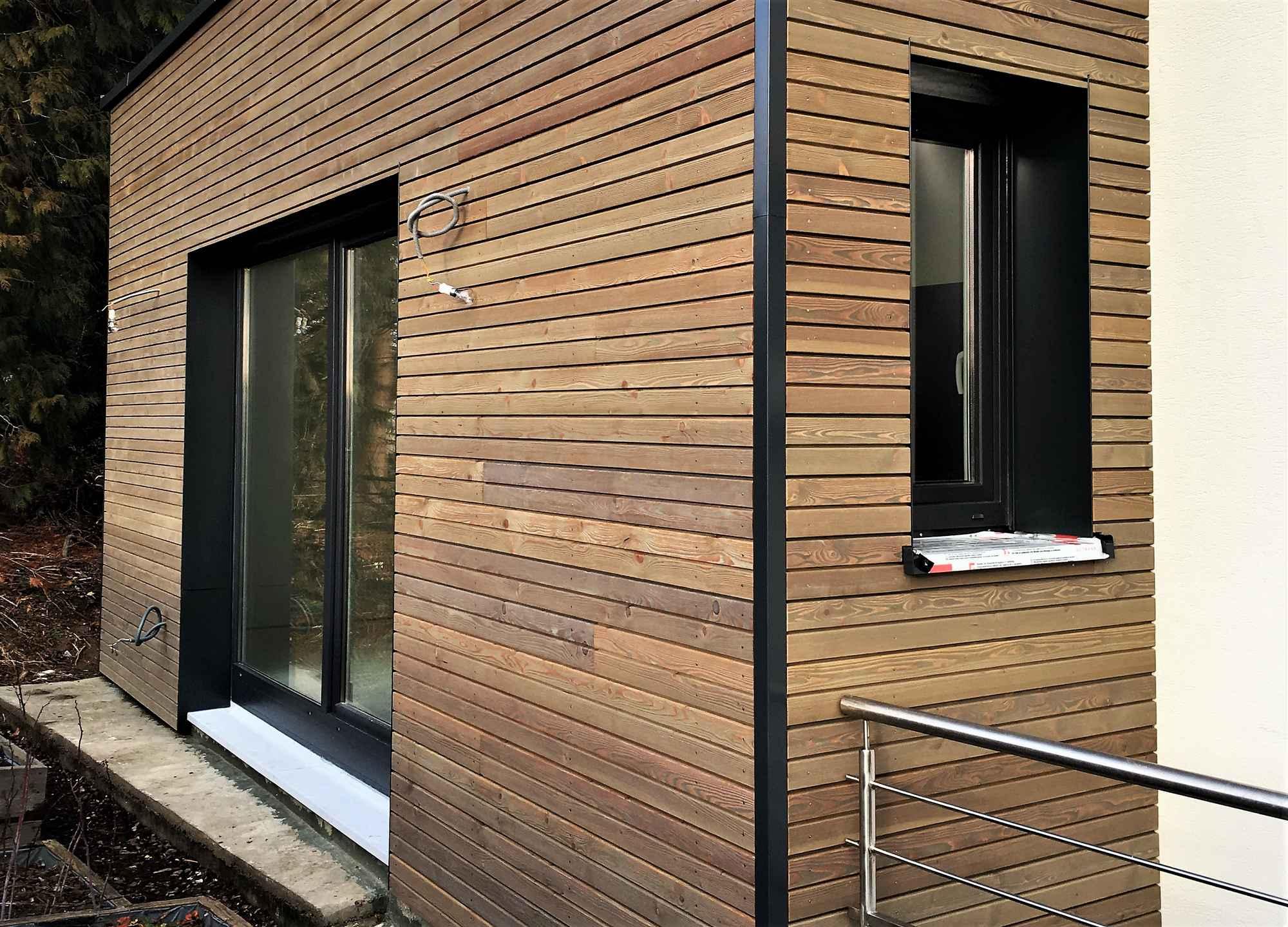 Agrandissement en ossature bois dune maison  Hirsingue  Maisons bois LUTZ