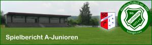 Bild SGL Fußball Spielbericht A-Junioren