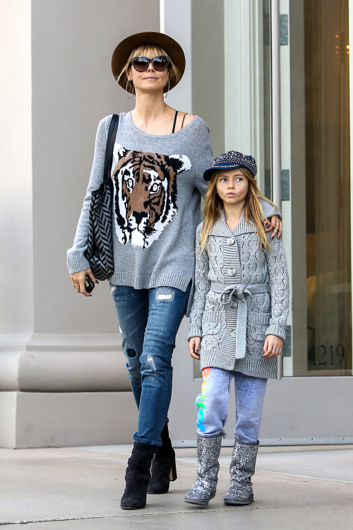 Heidi Klum and Leni are a Fashionable Duo