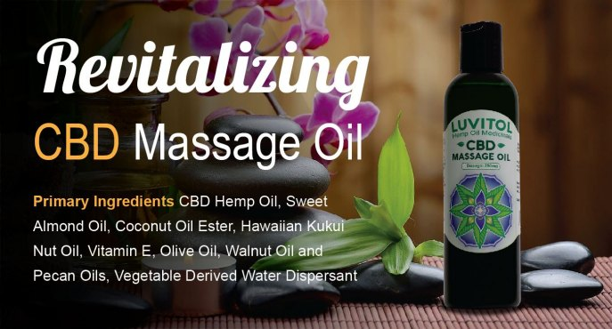 Luvitol CBD Massage Oil