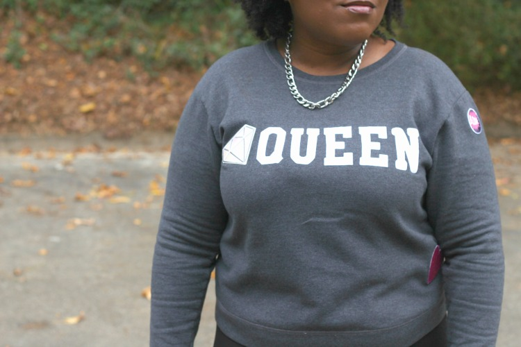 Statement Sweater with Patches DIY