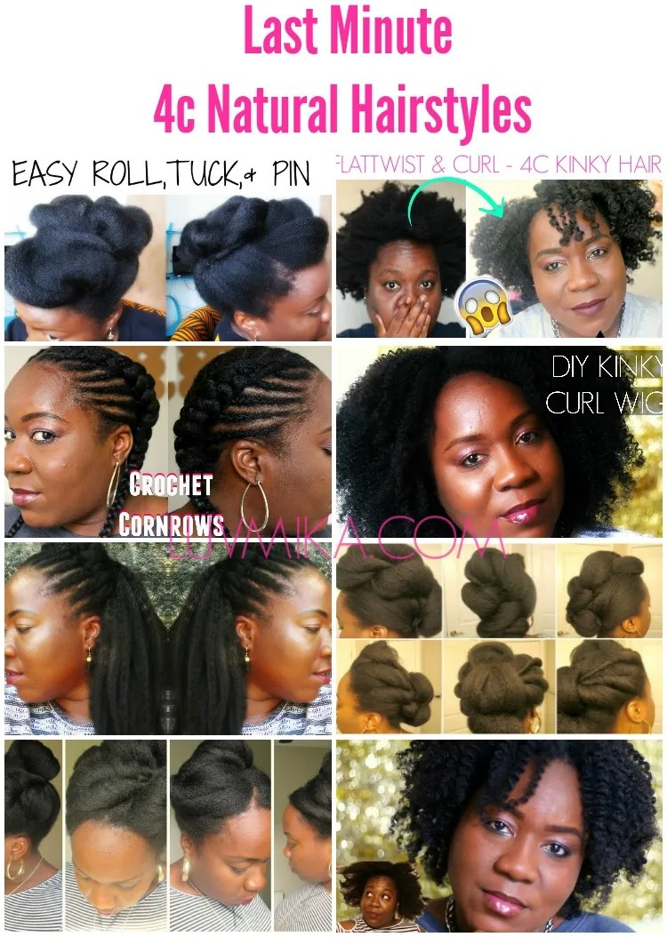 Easy Last Minute 4c Natural Hair Styles for Valentine's ...