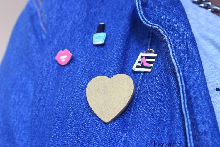 diy heart shaped earrings