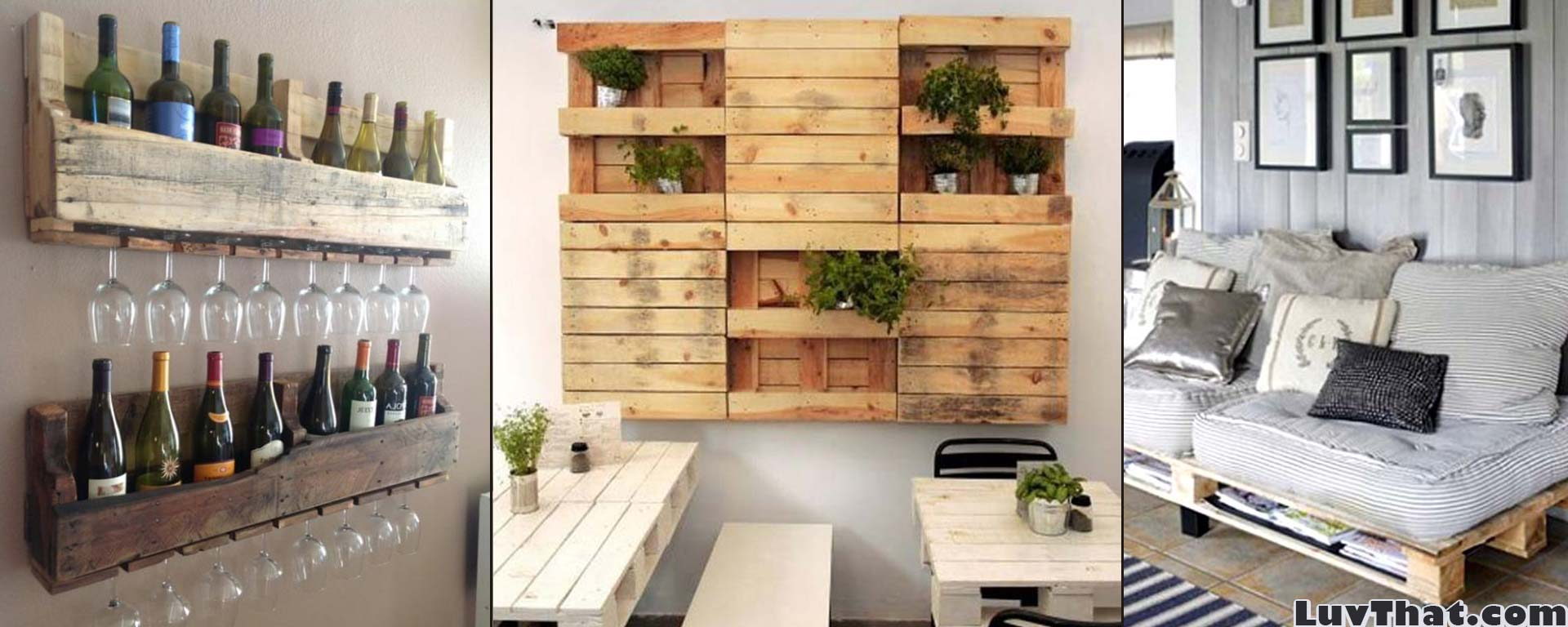 Cool Wood Pallet Furniture Ideas  LuvThat