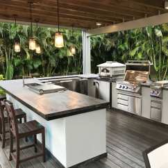 Outside Kitchen Bar Lights Outdoor Kitchens Luxapatio