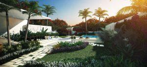 Royal Atlantis Residences Garden Suite private lawn terrace