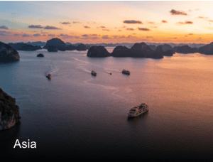 photo of Asian sunset at sea