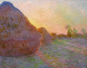 Meules Claude Monet photograph of impressionist painting