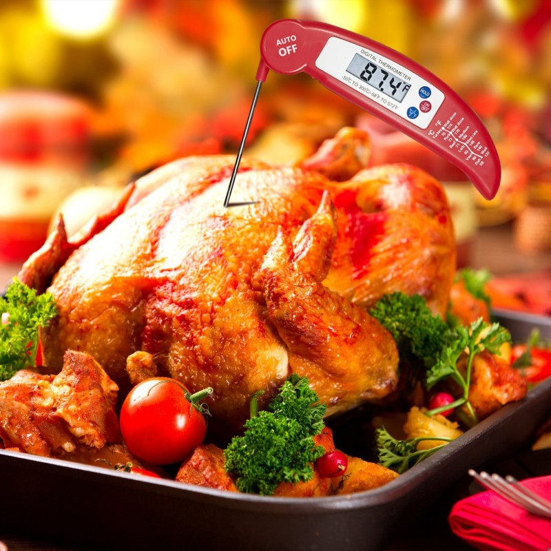 Food Thermometer Luxebell Digital Instant Read Meat