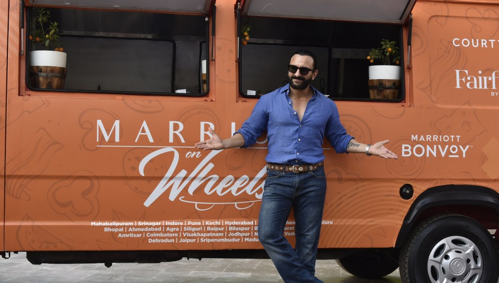 Saif Ali Khan at the launch of Marriott food truck