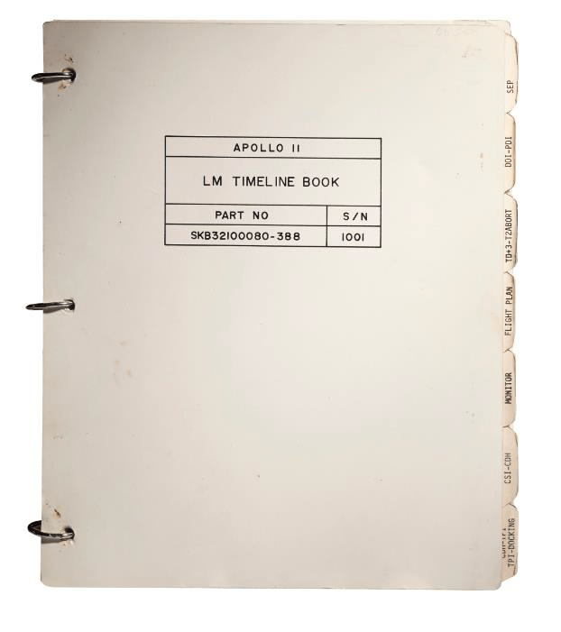 Apollo 11 Lunar Module Timeline Book. [Houston]: Manned Spacecraft Center, Flight Planning Branch, June 19-July 12, 1969.