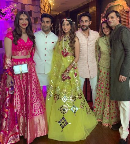 Sarah Todd at Armaan Jain wedding