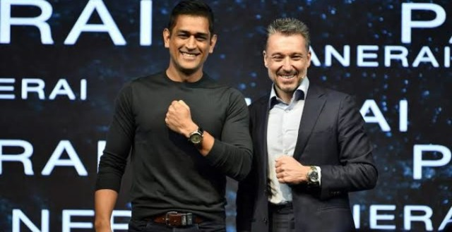 Jean-Marc Pontroue with Mahendra Singh Dhoni at 2019 launch in St. Regis Mumbai
