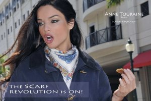 French silk scarves