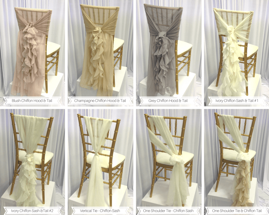 bow ties for chairs chair cushion seniors custom details & adornments | luxe event linen