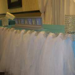 Chair Covers And Linens In Madison Heights Mi Precious Planet High Winter Wonderland Themed Baby Shower Luxe Event Linen