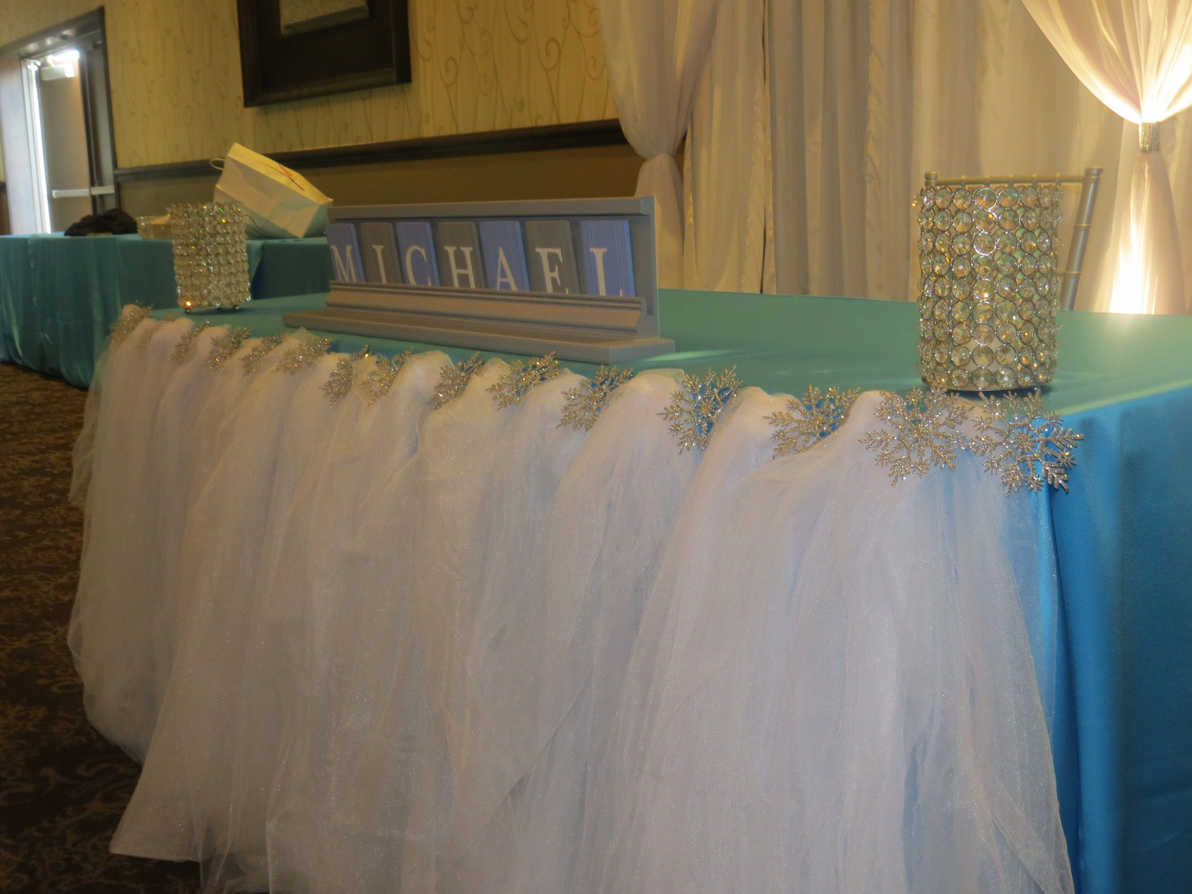 Winter Wonderland Themed Baby Shower  Luxe Event Linen