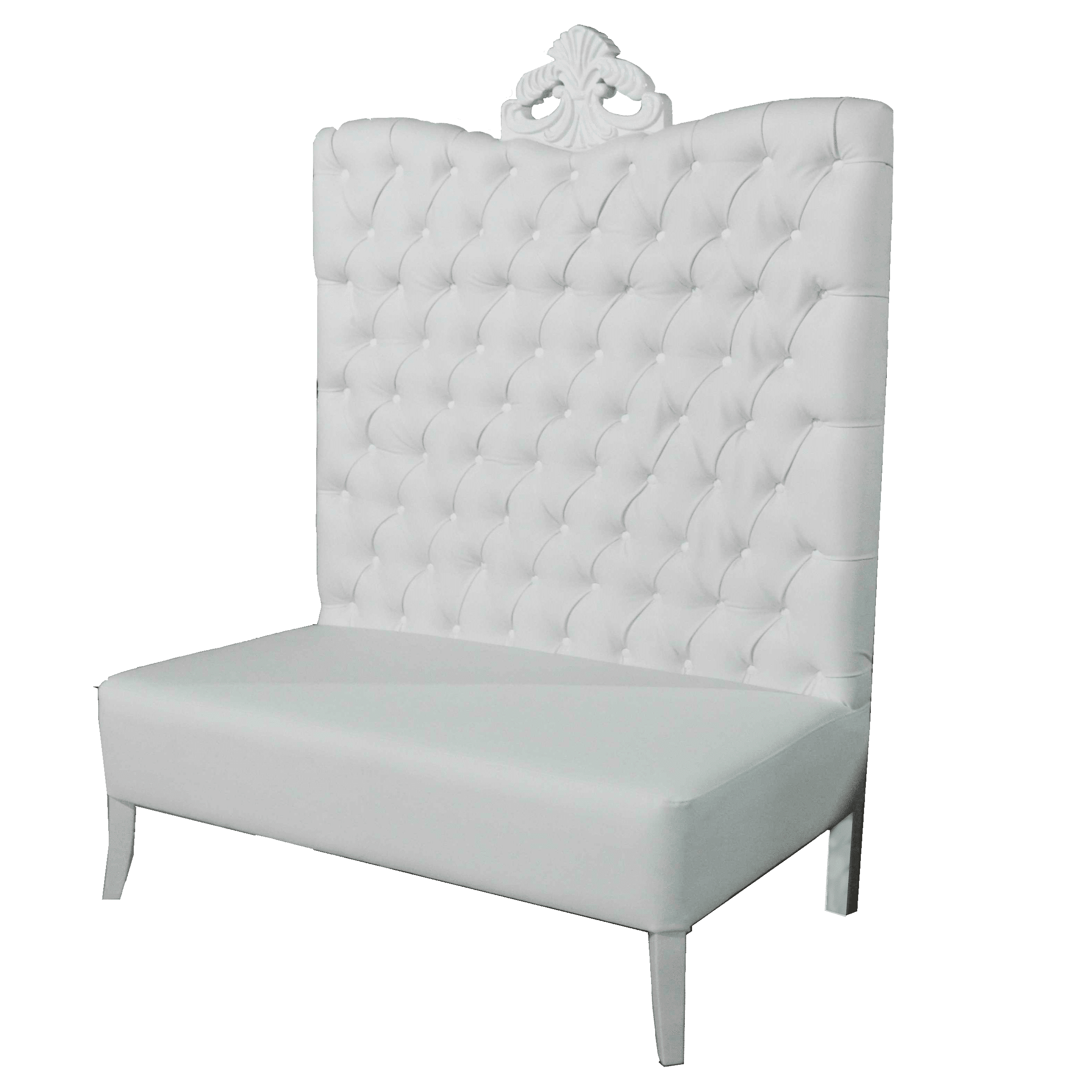 high back sofa and loveseat sofas low cost madrid white luxe line event rental