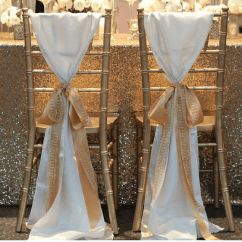 Table And Chair Rentals In Delaware Positions On A Gold Sequin 90 X 132 Tablecloth - Luxe Event Rental