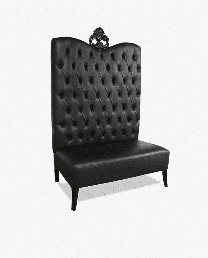 Black Luxe Line High Back Sofa Luxe Event Rental - High sofa
