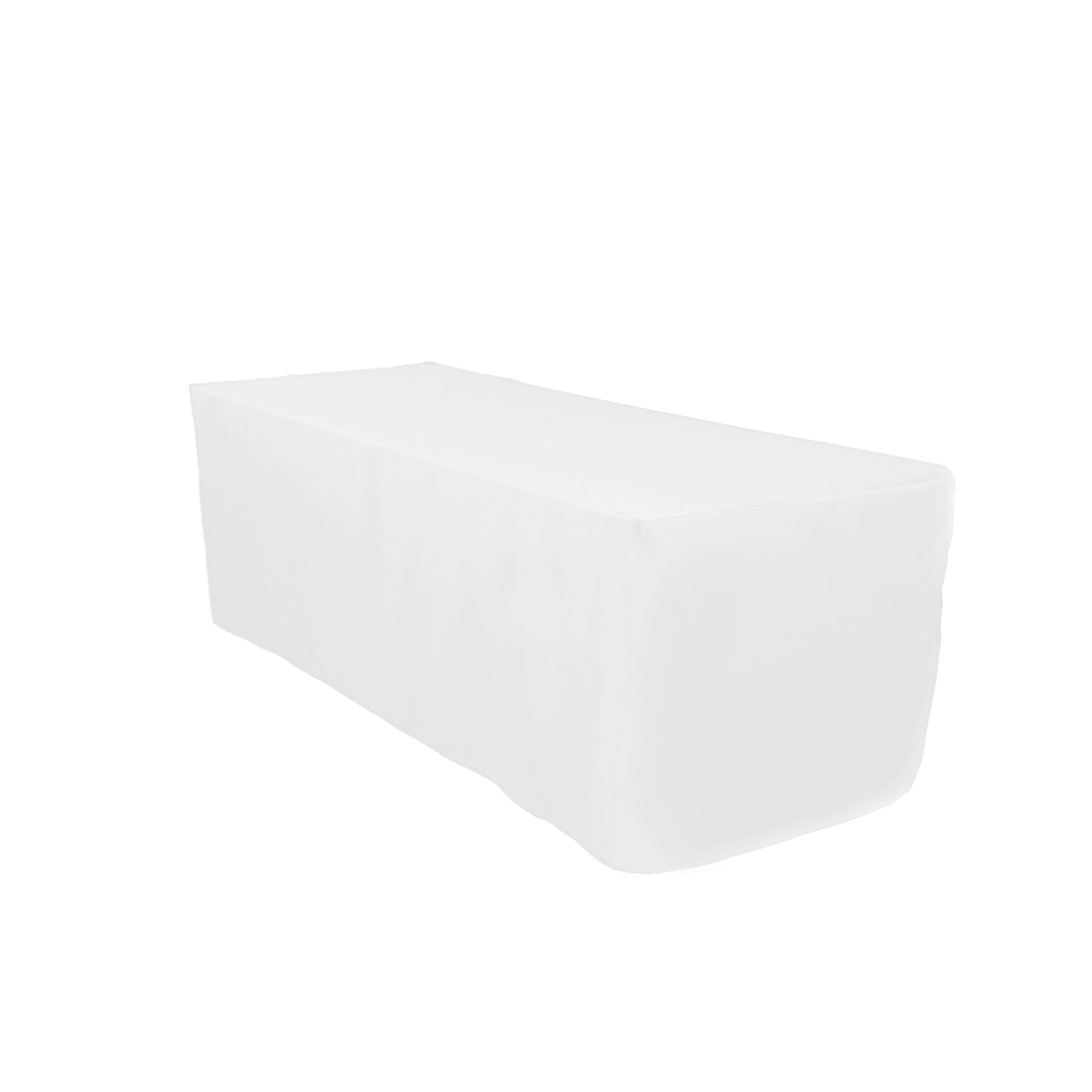 6 ft fitted white tablecloth