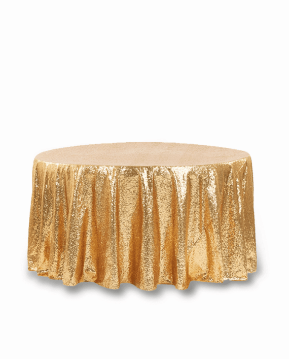 Gold Sequin 120 Round Tablecloth Rentals Atlanta
