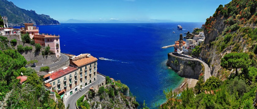 Golden Italian Seaside Charm in Postiano Amalfi Coast Italy 1