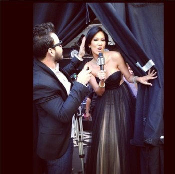 luxelab at The Glen Stylist Eric Garza for Kimora Lee's E! Oscars appearance