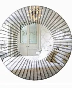 Round Art Deco Mirror