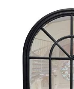Percy Black Arched Mirror