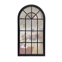 Percy Black Arched wall mirror