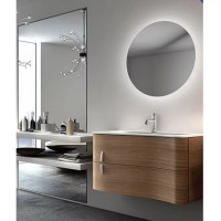 Rear Soft Glow LED Backlit Round Bathroom Mirror
