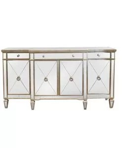 Antique Mirrored Sideboard