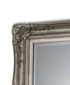 Joanna Traditional Mirror Silver Wooden Frame
