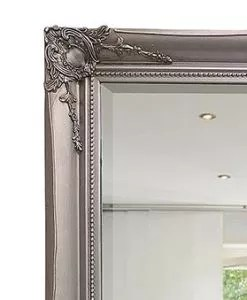 Ornate Silver Mirror