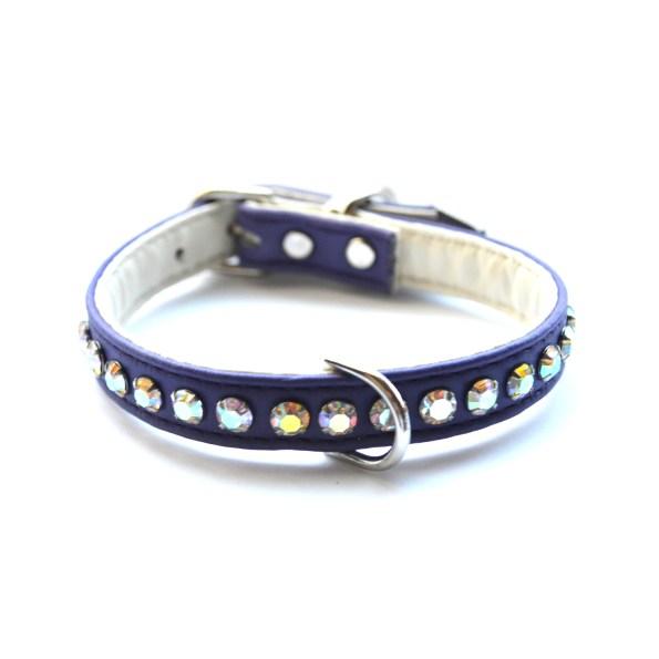 Ashley Designer Dog Purple Crystal Collar