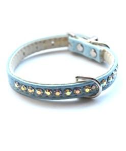 Jackie O Dog Collar Light Blue