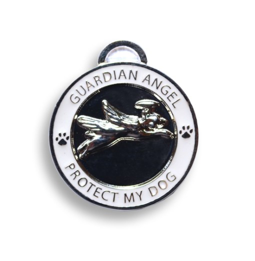 Guardian Anmgel Dog Silver Pet Char / Pet ID Tag