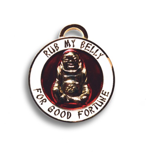 Lucky Buddha Gold Pet Charm / Pet ID tag