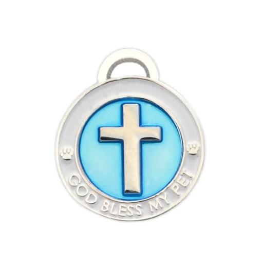 Cross Charm Blue