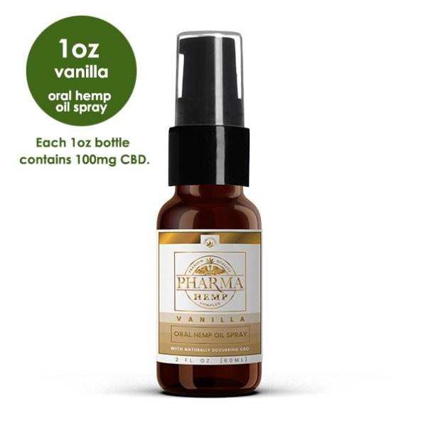 CBD Oral Spray for Pets 1oz-Vanilla