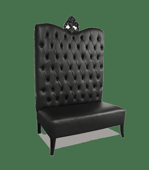 Black High Back Sofa Miami Broward and Palm Beach County