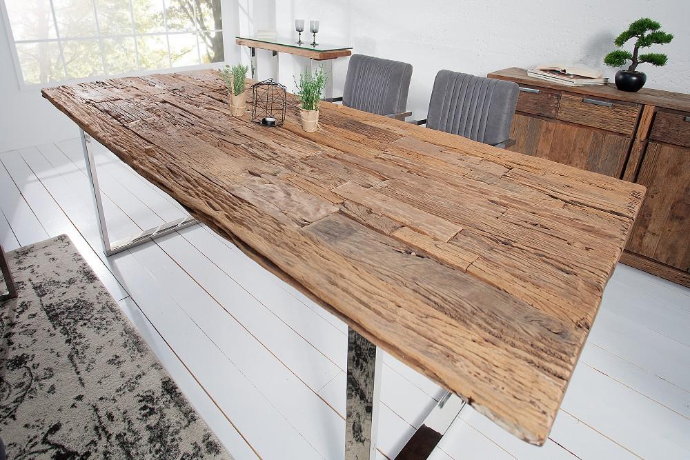 MALIBU  rustikt matbord tillverkat frn tervunnet teaktr