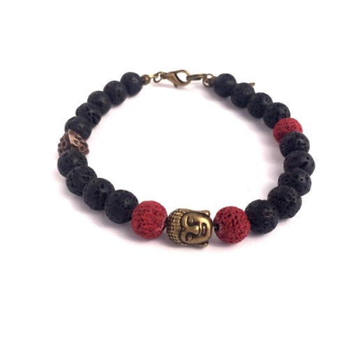 Black Lava rock Bracelet