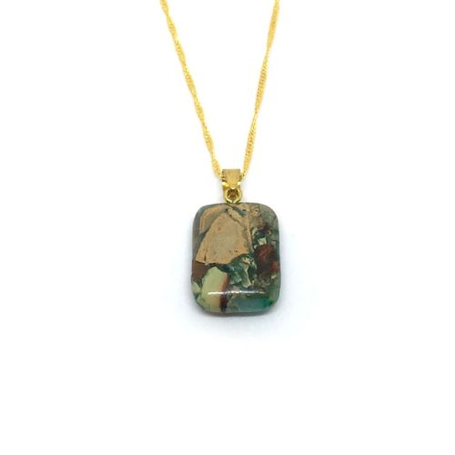 Camouflage Agate Pendant