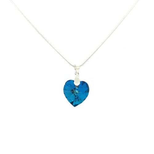 Blue Swarovksi heart pendant