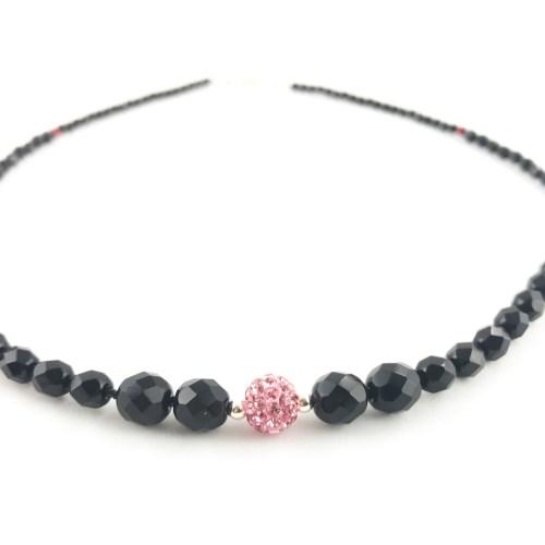 Czech fire polished crystal necklace