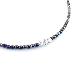 Druk crystal necklace